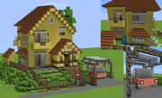 【minecraft】崖の上のポニョ・宗介の家
