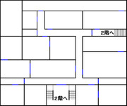 ルイージマンション 地図 1階