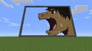 【Minecraft】波打際のむろみさんの10話のドット再現