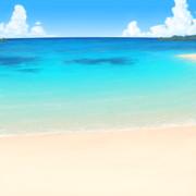 南の島!【背景素材】
