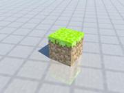 【MineCraft】マイクラの草ブロックを3DCGで。