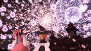 紅魔館で花火大会