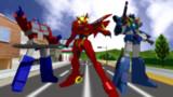 【MMD】TF×GZ×勇者!!【ヘンケイ!変形!超速変形!】