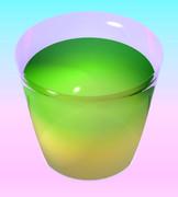 緑と黄色のジュース