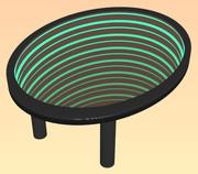 無限ミラーのテーブル