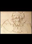 銅プレートにレミリア☆ 【勝手に彫らせていただきましたm(__)m】