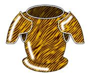 トラ模様の鎧