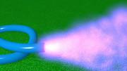 紫の炎を出すホース
