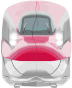MSペイントとマウスでE6系新幹線描いてみたよ!!