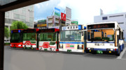 バス祭りか何か?【自分制作のバスモデルの大きさを統一】