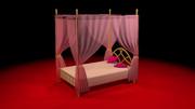 天蓋つきベッドステージ