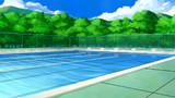 背景:屋外プール