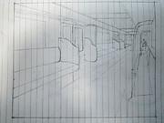 京成電車の車内描いてみた