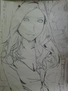 AKBの板野友美さんを描いてみた