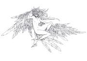 【線画配布】 bird
