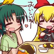 オムライスを食べるなおちゃん
