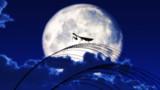 月に芒と蟷螂