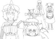 ニコ童祭お絵描きリレー企画・「お嬢様シリーズ」線画