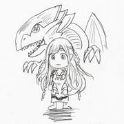 遊戯王:青き眼の乙女のイラスト