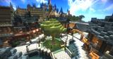 【Minecraft】 空に浮かぶ街 広場