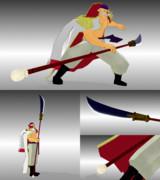 【MMDワンピ】白ひげさん家のアクセ【オヤジの長刀】