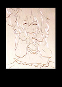 ニッ♪とルーミア☆【勝手に彫らせていただきましたm(__)m】