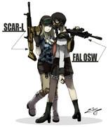 銃器【スカー&ファル】擬人化