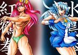 【ドキドキ】キュア紅鶴拳VSキュア水鳥拳【スマイル】