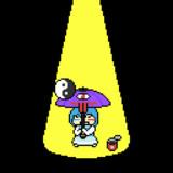 GIFアニメ 小傘の傘回し