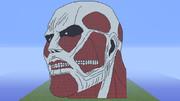 Minecraftで超大型巨人(頭だけ)