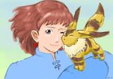 【描いてみた】ナウシカとテト【生放送】