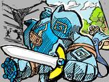 ヒトツキと青い英雄ゴルーグ