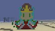 【Minecraft】ドット絵作ってみたアマテラスオオカミ【パズドラ】
