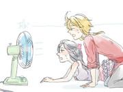 扇風機の前であ゛ーってするやつ