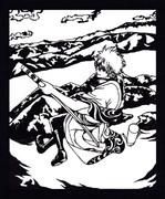 【銀魂】 洞爺湖に舞い降りた宇宙一バカな侍 【切り絵】
