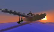 【Minecraft】夕焼けにうかぶ二式大艇