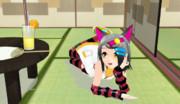 カムイちゃんがグラビアっぽいポーズ