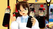 MMDキッコーマン醤油ボトルアクセ作った。ヽ(・д・)ノ