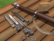 Lee-Enfield No.4の銃剣と鞘