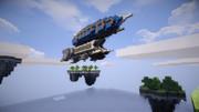 浮遊島と飛空艇