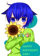 サンちゃんお誕生日おめでとう!♪ヾ(。・ω・。)ノ゙
