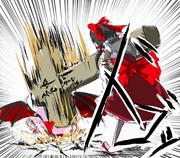 おぜう「ふふ、私が十字架でやられるような低級の吸血鬼と思っているならそれは大きな間違いd」