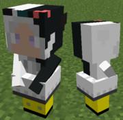 Minecraft「リトルメイドアーマー版モノクマパーカーを作ってみた」