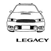 SUBARU LEGACY BG【描いてみた】