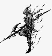 FF14 新生 竜騎士 模写 和風アレンジ