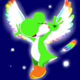 レインボーな翼のヨッシー