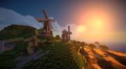風車の並ぶ風景
