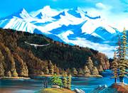 ロッキー山脈とわし