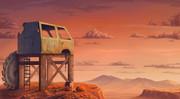 砂漠の夕刻