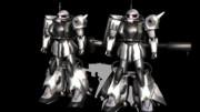 【MMDガンダム】MS-06R-1AとMS-06R-2